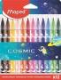 Filctoll készlet, 2,8 mm, kimosható, MAPED 'Cosmic', 12 különböző szín