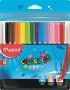 Filctoll készlet, 2 mm, kimosható, MAPED 'Color`Peps Ocean', 12 különböző szín