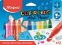Filctoll készlet, 6,5 mm, kimosható, MAPED 'Color`Peps Mini Power', 12 különböző szín