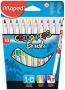 Filctoll, ecset, MAPED Color Peps Brush, 10 különböző szín