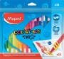 Zsírkréta, kitekerhető, MAPED 'Color`Peps', 24 különböző szín