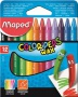 Zsírkréta, MAPED 'Color`Peps Wax', 12 különböző szín