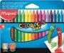 Zsírkréta, MAPED 'Color`Peps Wax', 18 különböző szín