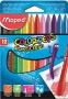 Zsírkréta, MAPED 'Color`Peps' PlastiClean, 12 különböző szín