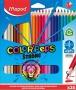 Színes ceruza készlet, háromszögletű, MAPED 'Color`Peps Strong', 24 különböző szín