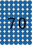 Etikett, 19 mm kör, színes, A5 hordozón, APLI, kék, 560 etikett/csomag
