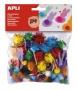 Pom-pom, csillogó, APLI 'Creative', vegyes színek