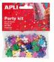 Konfetti, metál, 13 mm, virágok, APLI, vegyes színek