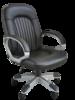 Sanford főnöki forgószék | design lábkereszt | műbőr kárpitozás | drapp
