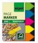 Jelölőcímke, műanyag, 5x40 lap, 12x45 mm, SIGEL 'Nyilak', vegyes szín