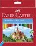 Színes ceruza készlet, hatszögletű, FABER-CASTELL 'Classic', 24 különböző szín