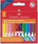 Zsírkréta, háromszögletű, FABER-CASTELL 'Grip', 12 különböző szín