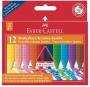 Zsírkréta, háromszögletű, FABER-CASTELL 'Jumbo Grip', 12 különböző szín