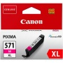 CLI-571MXL Tintapatron Pixma MG5750, 6850,7750 nyomtatókhoz, CANON, magenta, 11 ml