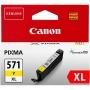 CLI-571YXL Tintapatron Pixma MG5750, 6850,7750 nyomtatókhoz, CANON, sárga, 11 ml