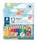 Színes ceruza készlet, hatszögletű, félhosszú, STAEDTLER 'Noris Club', 12 különböző szín