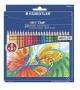 Színes ceruza készlet, hatszögletű, STAEDTLER 'Noris Club', 24 különböző szín