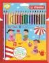 Színes ceruza készlet, háromszögletű, vastag, STABILO 'Trio thick', 18 különböző szín